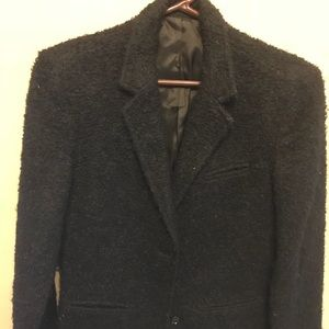 Black vintage mohair short jacket